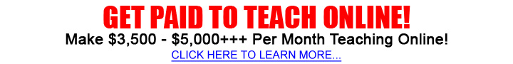 Online tutor and teaching jobs Offers